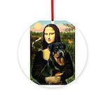 Mona Lisa/Rottweiler Ornament (Round)