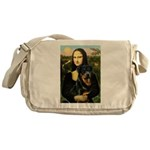 Mona Lisa/Rottweiler Messenger Bag
