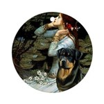 Ophelia/Rottweiler Ornament (Round)