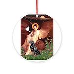 Angel #1/Rottweiler Ornament (Round)