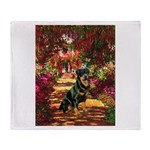 The Path / Rottie Throw Blanket