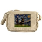 Starry Night Rottweiler Messenger Bag