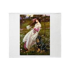 Windflowers / Rottweiler Throw Blanket
