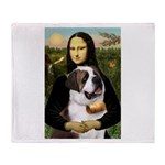 Mona / Saint Bernard Throw Blanket