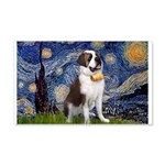 Starry / Saint Bernard 20x12 Wall Decal