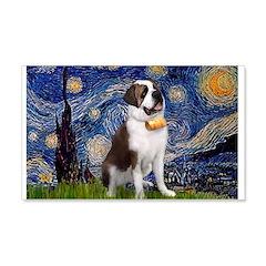 Starry / Saint Bernard 20x12 Wall Decal