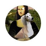 Mona Lisa (new) & Saluki Ornament (Round)