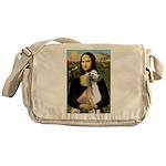 Mona Lisa (new) & Saluki Messenger Bag