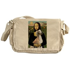 Mona Lisa (new) & Saluki Messenger Bag