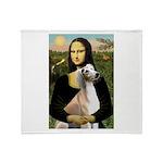 Mona Lisa (new) & Saluki Throw Blanket