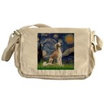 Starry Night / Saluki Messenger Bag
