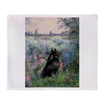 Seine / Schipperke Throw Blanket
