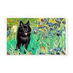Irises / Schipperke #2 20x12 Wall Decal