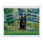 Bridge / Schipperke #4 Throw Blanket