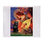 Mandolin / Schipperke #5 Throw Blanket