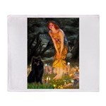 Fairies & Schipperke Throw Blanket