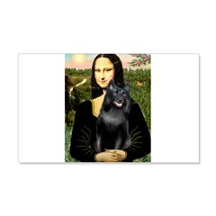 Mona's Schipperke (#5) 20x12 Wall Decal
