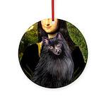 Mona / Schipperke Ornament (Round)