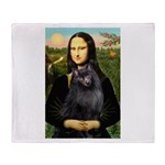 Mona / Schipperke Throw Blanket