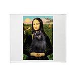 Mona / Schipperke Throw Blanket