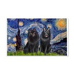 Starry Night & Schipperke 20x12 Wall Decal