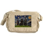 Starry Night & Schipperke Messenger Bag