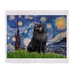 Starry / Schipperke #2 Throw Blanket