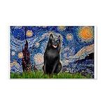 Starry / Schipperke #5 20x12 Wall Decal