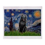 Starry / Schipperke #5 Throw Blanket