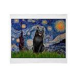 Starry / Schipperke #5 Throw Blanket