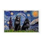 Starry / Schipperke Pair 20x12 Wall Decal