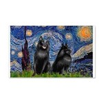 Starry / Schipperke Pair 20x12 Wall Decal