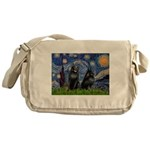 Starry / Schipperke Pair Messenger Bag