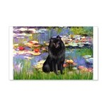 Lilies (2) & Schipperke 20x12 Wall Decal