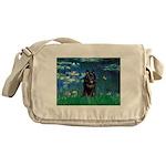 Lilies / Schipperke #4 Messenger Bag