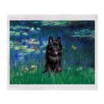 Lilies / Schipperke #4 Throw Blanket