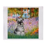 Garden / Miniature Schnauzer Throw Blanket