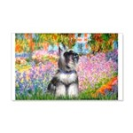 Garden / Miniature Schnauzer 20x12 Wall Decal