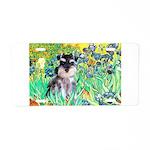 Irises / Miniature Schnauzer Aluminum License Plat
