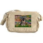 Lilies (#2)/Schnauzer Pup Messenger Bag