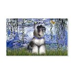 Lilies (#6) & Schnauzer #7 20x12 Wall Decal
