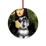 Mona Lisa's Schnauzer (#6) Ornament (Round)