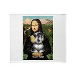 Mona Lisa's Schnauzer (#6) Throw Blanket