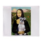 Mona Lisa/Schnauzer (#2) Throw Blanket