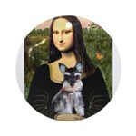 Mona Lisa's Schnauzer Puppy Ornament (Round)