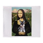 Mona Lisa's Schnauzer Puppy Throw Blanket