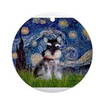 Starry / Schnauzer Ornament (Round)