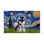 Starry / Schnauzer 20x12 Wall Decal
