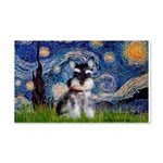 Starry / Schnauzer 20x12 Wall Decal