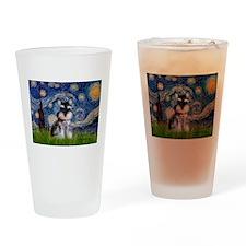 Starry / Schnauzer Drinking Glass